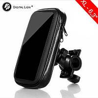 """Универсальный держатель для телефона на велосипед или мотоцикл Digital Lion, размер XL, для диагонали 6.3"""""""