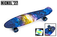 "Penny Board Nickel 27"" ""Universe"". Светящиеся колеса"