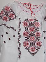 Cорочка вышиванка для девочки, размер 28-44