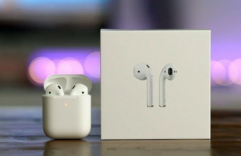 Бездротові навушники Bluetooth 5.0 Apple AirPods 2 гарнітура з кейсом для зарядки