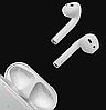 Бездротові навушники Bluetooth 5.0 Apple AirPods 2 гарнітура з кейсом для зарядки, фото 5