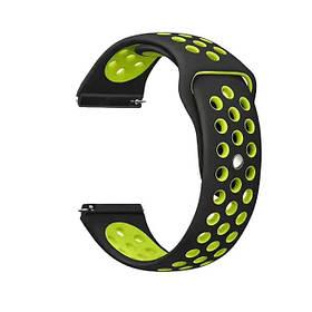 Спортивний ремінець Primolux Perfor Sport з перфорацією для годин Amazfit Pace Smart Sport Watch - Black&Green