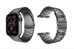 Ремешок металлический для Apple Watch 1/2/3/4 Черный 38-40мм Браслет металлический