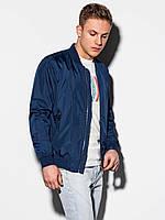Чоловіча повсякденна куртка-бомберка C439 - темно-синій - XXL