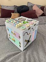 БизиКуб размер 30*30*30 цветной. Развивающий игровая куб. Бизиборд. Busy board
