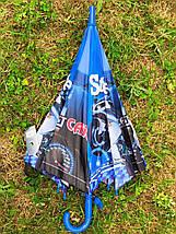 Зонт трость детский Fiaba с рисунком «Мотоцикл» на 4-9 лет (1223142679), фото 2