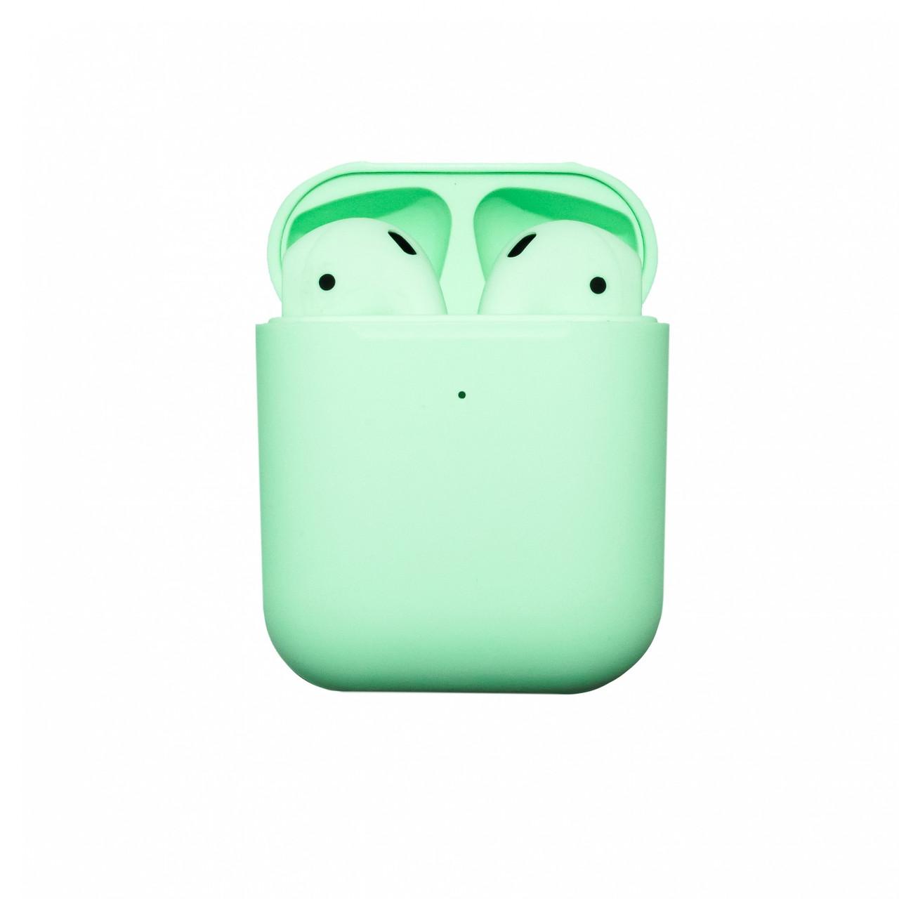 Бездротові навушники блютуз гарнітура Macaroon AP2 TWS bluetooth V5.0+EDR сенсорні Зелений