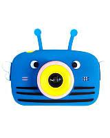 Детский цифровой фотоаппарат Children`s fun Синяя Пчелка 40М Full HD 1080p (PBB)