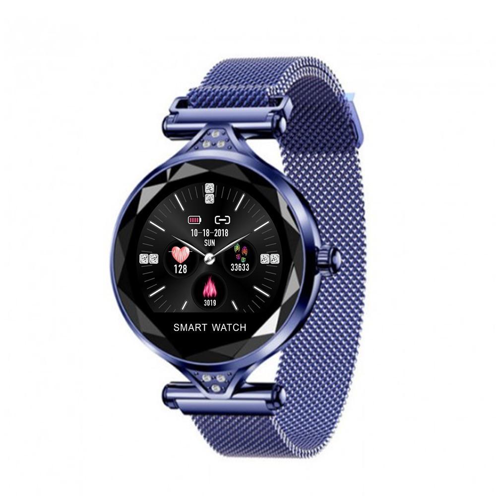Женские Смарт-часы Smart Bracelet H1 IP67 с тонометром Синий Blue
