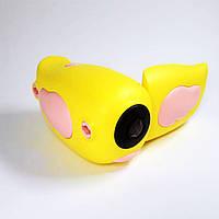 Оригинал Детская цифровая видеокамера 5 игр 720p Желтая (Yellow)