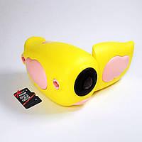 Детская цифровая видеокамера 5 игр 720p (Yellow) с картой microSDHC 32 GB 10 class