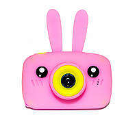 Original Детский цифровой фотоаппарат Children`s fun Розовый Зайчик 20Мп Full HD 1080p (PP)