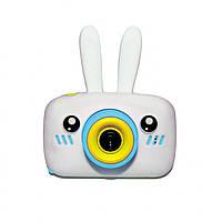 Детский цифровой фотоаппарат Children`s fun Белый Зайчик 40М Full HD 1080p (BW)