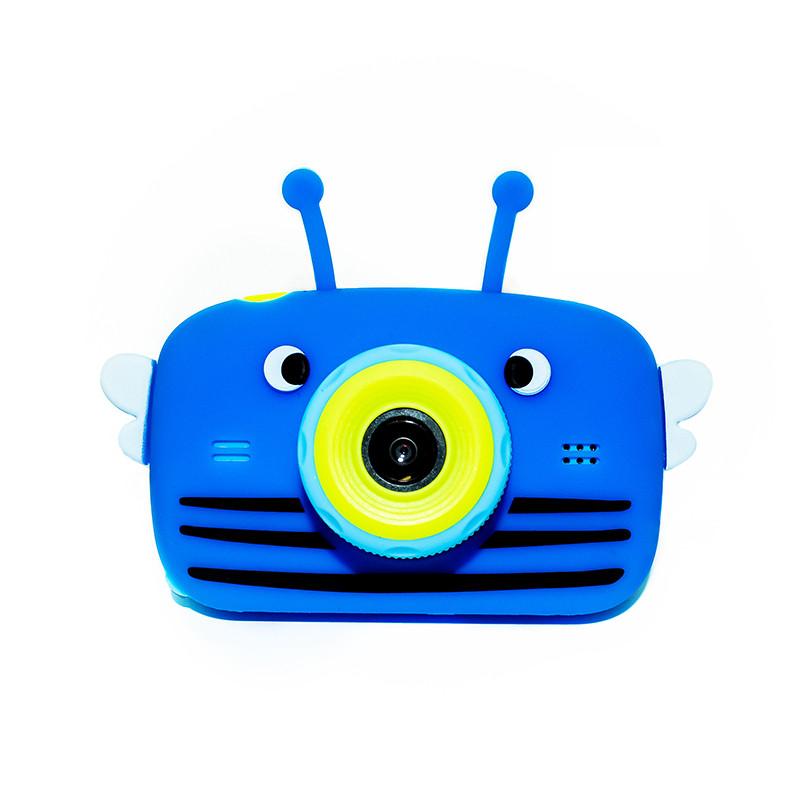 Original Дитячий цифровий фотоапарат children's fun Синя Бджілка 20Мп Селфи Selfie (BBBS)