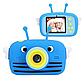 Original Дитячий цифровий фотоапарат children's fun Синя Бджілка 20Мп Селфи Selfie (BBBS), фото 4