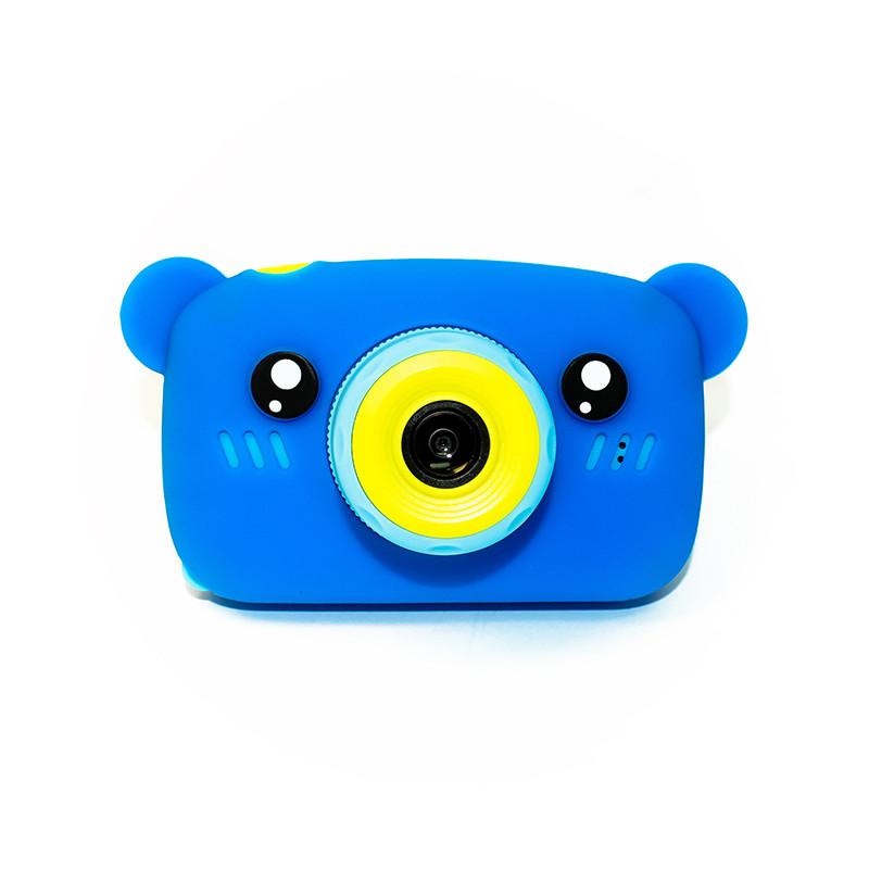 Дитячий цифровий фотоапарат children's fun Синій Ведмедик 40М Full HD 1080p (BBM)