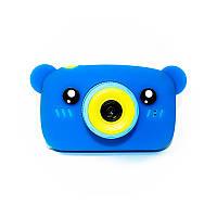 Original Детский цифровой фотоаппарат Children`s fun Синий Мишка 40М Full HD 1080p (BBM)
