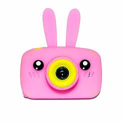 Original Детский цифровой фотоаппарат Children`s fun Розовый Зайчик 20Мп Селфи Selfie (PPS)