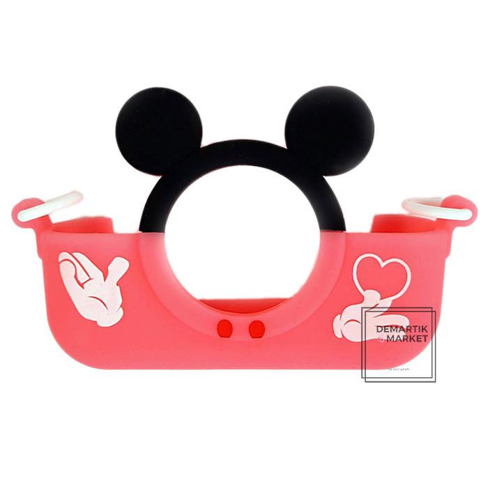 Чохол бампер для дитячого фотоапарата children's fun Міккі Маус рожевий (MP)