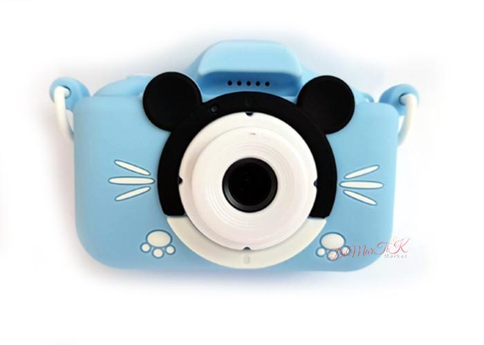 Дитячий міні фотоапарат цифровий c селфи 20Мп children's fun Блакитний Маус (BMS)