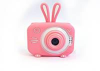 20Мп Детский цифровой фотоаппарат Children`s fun Розовый Зайчик Люкс Селфи с фронтальной камерой (SPB)