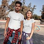 """Парні футболки для закоханих  """"Я завжди поруч"""", фото 2"""