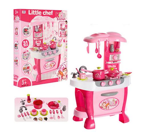Набір дитячої металевого посуду. Іграшки для дівчаток посуд.