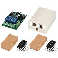 433МГц 2-х канальний бездротовий вимикач на 220В + Два пульта