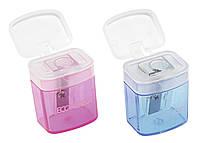 Точилка пластиковая с контейнером Е40610, 1 лезвие, Economix