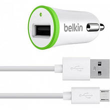 АЗУ Belkin USB и кабель microusb (V8)