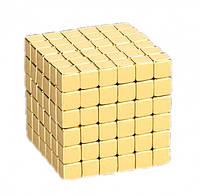 Магнитный конструктор Неокуб 216 кубиков 5х5мм в боксе NeoCube золото