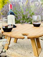 Дубовый винный столик. VIP подарок для руководителя, начальника, шефа, босса., фото 1