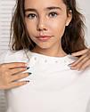 Стильная  блузка с нарядными рукавами -воланами Алесия тм Madlen Размеры 134-158, фото 4