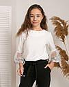 Стильная  блузка с нарядными рукавами -воланами Алесия тм Madlen Размеры 134-158, фото 5
