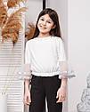 Стильная  блузка с нарядными рукавами -воланами Алесия тм Madlen Размеры 134-158, фото 2