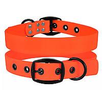 Ошейник для Собак BronzeDog Surf Водоотталкивающий с Защитным Полимерным Покрытием и Ременной Пряжкой Оранжевый S