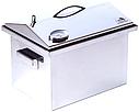 Домашняя коптильня для горячего копчения из нержавейки домик с термометром 400х300х310, фото 4