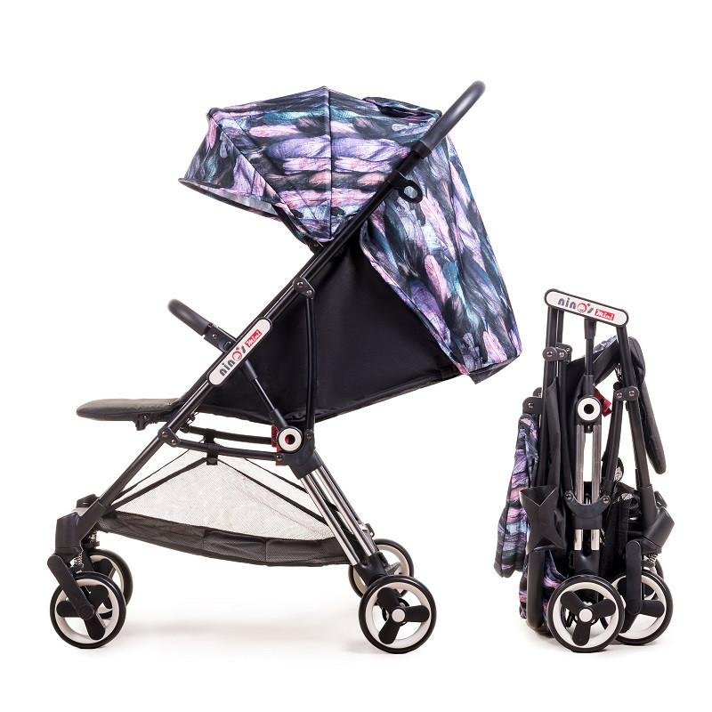 Детская коляска Ninos Mini Purple Bird 5.8 кг