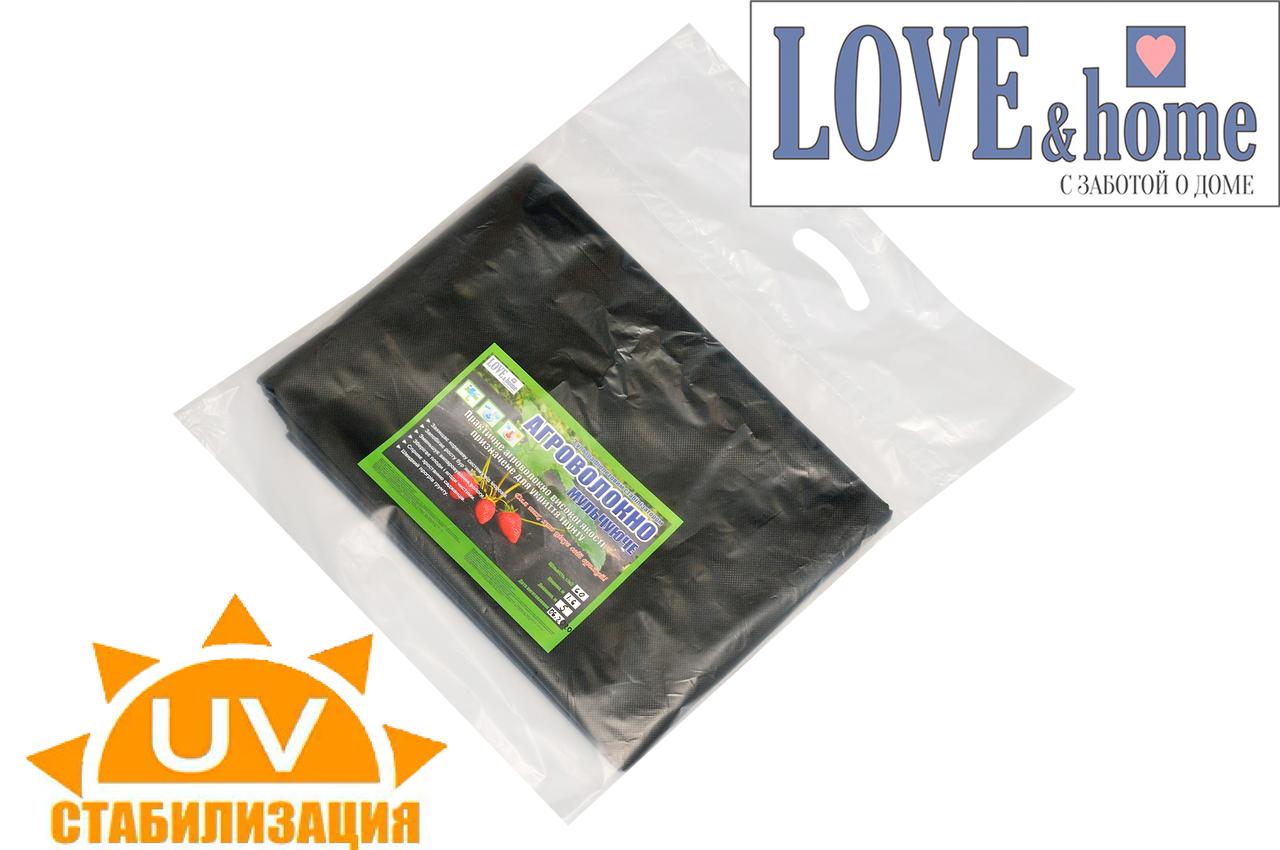 Агроволокно щільністю 50 г/кв. м. 1,6 м*10м чорне агроволокно в пакетах .