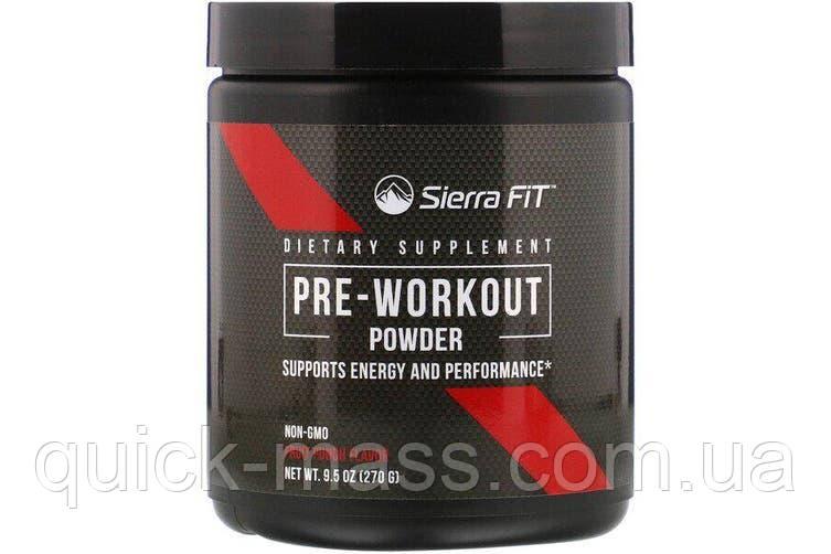Предтренувальний комплекс Pre-Workout Powder Sierra Fit 270g