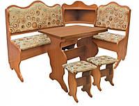 Кухонный уголок Корнет (стол раскладной+диван+2 табурета)