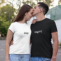 """Парные футболки для парня и девушки """"day / night"""""""
