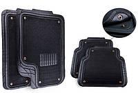 Ковры для авто универсальные со съемным ворсовым элементом, комплект 5 шт., черные