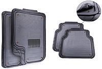 Ковры для авто универсальные со съемным ворсовым элементом, комплект 5 шт., серые