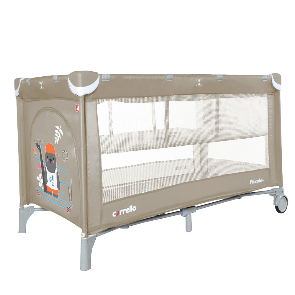 Детский манеж-кровать CARRELLO PICCOLO+ CRL-9201/2 Sand Beige. Гарантия качества. Быстрая доставка.