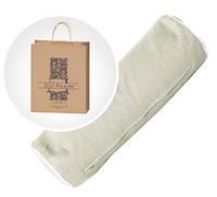 Подушка-валик с наполнителем из гречневой шелухи