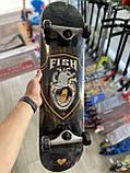 Скейт деревянный, Скейтборд, натуральный канадский клен, для трюков, Fish Skateboards - Сердце, премиум!!!, фото 3