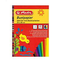 Бумага цветная Herlitz 20х28см 10 листов 10 цветов 80г/м2 односторонняя глянцевая 10668085