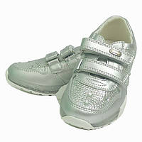 Кроссовки кросівки спортивная весенняя осенняя обувь для девочки 3896 серебряный  ТМ Сказка .Размеры 27-32