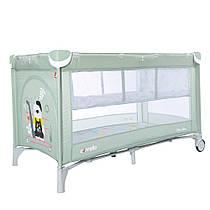 Детский манеж-кровать CARRELLO PICCOLO+ CRL-9201/2 Mint Green Гарантия качества. Быстрая доставка.